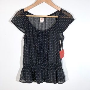 NWT | Mossimo by Target | Ruffle Peasant Top